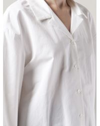 Rosie Assoulin White Wide Frame Shirt