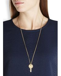 Marc By Marc Jacobs - Metallic Lock In Gold Tone Necklace - Lyst