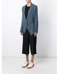 Stella McCartney - Blue Stitching-Detail Blazer - Lyst