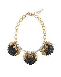 J.Crew Black Crystal Nouveau Necklace