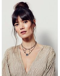 Free People - Metallic Ela Rae Womens Cait Connection Choker - Lyst