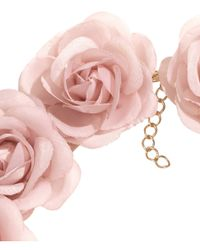 H&M | Pink Necklace With Flowers | Lyst