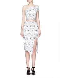Maticevski - Black 'personify' Spider Orchid Floral Embroidery Mesh Skirt - Lyst