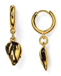 Diane von Furstenberg | Metallic Dew Drop Hoop Earrings | Lyst