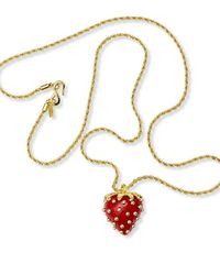 Kenneth Jay Lane - Red Strawberry Necklace - Lyst