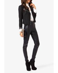 Forever 21 Black Lace Moto Jacket