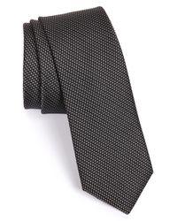 Calibrate Black Woven Silk Tie for men
