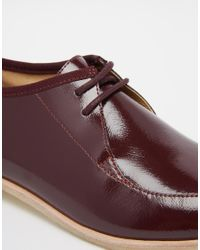 Clarks Red Originals Wine Patent Phenia Point Flat Shoes