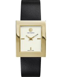 Tory Burch White The Buddy Classic Gold-toned Stainless Steel Watch
