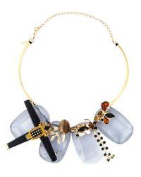 Marni - Metallic Embellished Necklace - Lyst