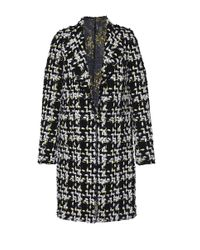Giambattista Valli | - Wool-blend Tweed Coat - Black | Lyst