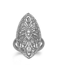 Lord & Taylor | Diamond And 14k White Gold Ring, 0.50 Tcw | Lyst