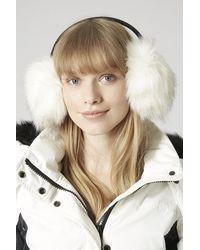 TOPSHOP White Sno Faux Fur Earmuffs