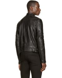 Diesel Black Gold | Black Leather Laxony Bike Jacket for Men | Lyst
