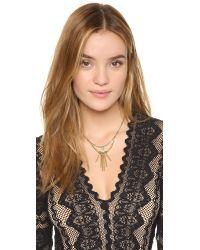 Vanessa Mooney Metallic The Crossroads Necklace