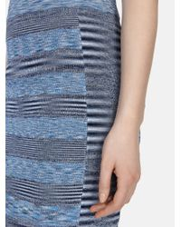 Karen Millen Blue Space Dye Denim Skirt