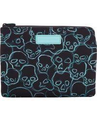 Marc Jacobs - Blue Neon Skulls Tablet Zip Case - Lyst