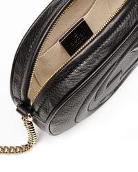 Gucci - Black Soho Leather Mini Chain Bag - Lyst