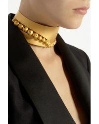 Paula Mendoza - Metallic Hera Goldplated Choker - Lyst