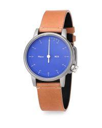 Miansai - Blue M24 Leather Strap Watch - Lyst