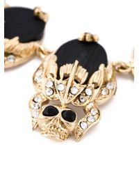 Givenchy - Metallic 'giv' Skull Choker - Lyst