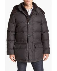 Vince Camuto Brown 680-down Fill Quilted Hooded Parka for men