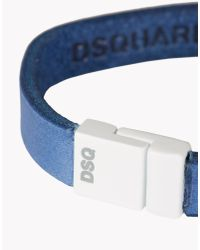 DSquared² - Blue White Art Armlet for Men - Lyst