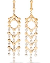 Giles & Brother - Metallic Gold And Silver-plated Earrings - Lyst