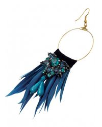 Matthew Williamson | Blue Azure Feather Jewel Earrings | Lyst