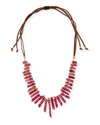 Panacea | Red Long Jasper Stick Necklace | Lyst