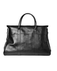 Mulberry - Black Piccadilly Leather Holdall Bag for Men - Lyst