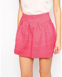 AX Paris - Pink Structured Bandage Skirt - Lyst