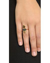 Jacquie Aiche Metallic Eye Ring - Black/gold
