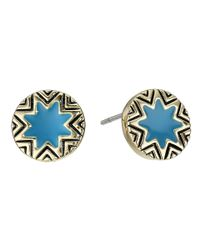 House of Harlow 1960 - Blue Enameled Sunburst Studs - Lyst