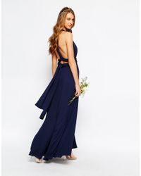 Fame & Partners Blue Ainsley Multiway Dress - Navy