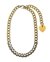 Lanvin | Metallic Susan Crystal and Chain Necklace | Lyst