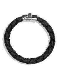 David Yurman - Metallic Pave Bracelet In Black With Black Diamonds for Men - Lyst