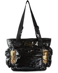 Sonia Rykiel - Black Sequin Embellished Shoulder Bag - Lyst