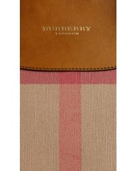 Burberry Brown The Medium Bloomsbury In Canvas Check And Leather