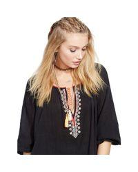Denim & Supply Ralph Lauren - Black Embroidered Beach Top - Lyst