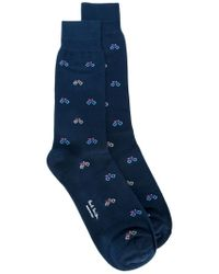 Paul Smith - Blue Bicycle Intarsia Socks for Men - Lyst