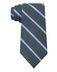 DKNY - Blue Slim Fit Jrt Silk Stripe Tie for Men - Lyst