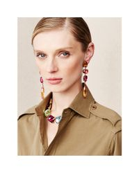 Ralph Lauren | Multicolor Emerald-cut Swarovski Necklace | Lyst