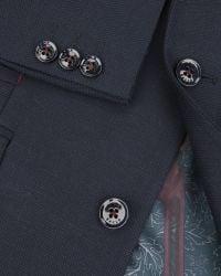 Ted Baker | Blue Birdseye Jacket for Men | Lyst