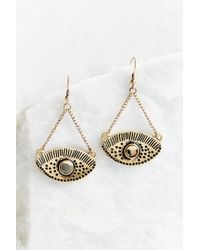 Urban Outfitters | Metallic Look Out Eye Drop Earring | Lyst