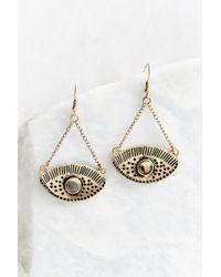 Urban Outfitters | Metallic Look Out Eye Drop Earring | Lyst