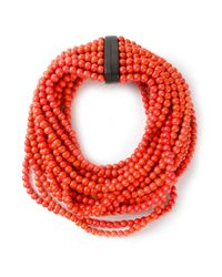Monies | Orange Beaded Necklace | Lyst
