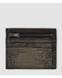 AllSaints Natural Credit Card Holder With Zip