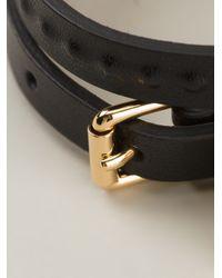 Alexander McQueen - Black Charm Wrap Around Bracelet - Lyst