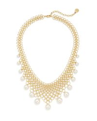 Majorica - Metallic 6mm-12mm White Round Pearl Link Collar Necklace - Lyst